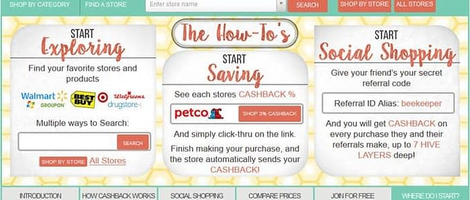 how to earn cash back shopping online