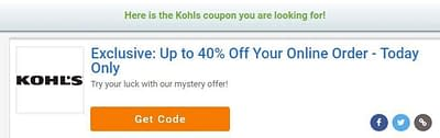 Kohl's Mystery Offer – Save Up To 40%