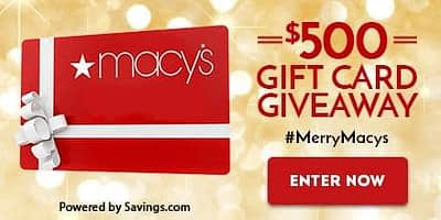 Macy's Christmas Gift Card Giveaway