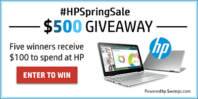 HP Spring Sale And Giveaway