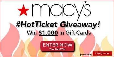 Macy's Hot Ticket Sale and Giveaway