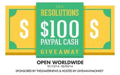 2014 New Year Resolutions $100 Paypal International Blog Giveaway