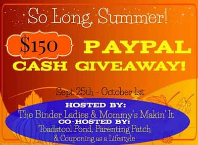 So Long Summer 2014 Cash Giveaway