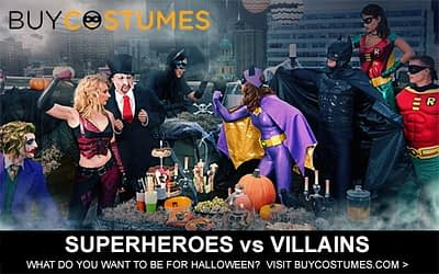 Halloween Costumes – Superheroes vs Villains