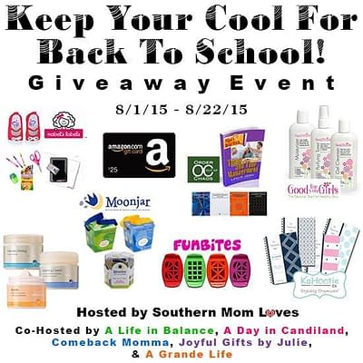 Keep Your Cool For Back To School 2015 Giveaway