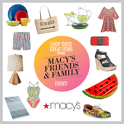 Macy's Friends And Family 2016 Sale And Giveaway