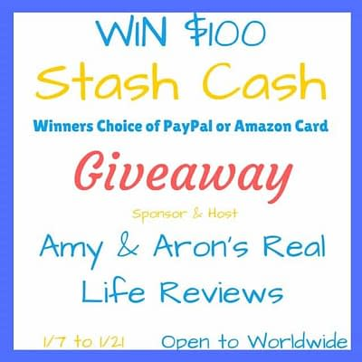 $100 Stash Cash Giveaway – Paypal Or Amazon GC