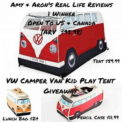 VW Camper Van Kid Play Tent Giveaway Event