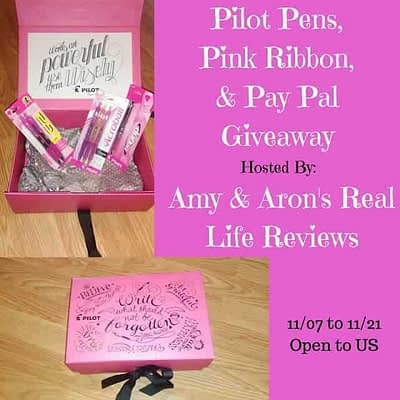 Pilot Pens And Paypal Cash Giveaway