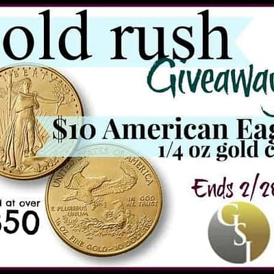 Gold Rush American Eagle Gold Coin Giveaway