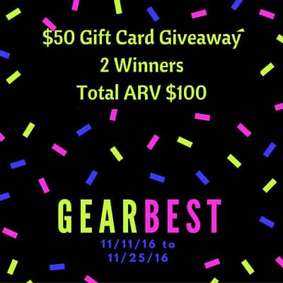 Gearbest Online Shopping Gift Card Giveaway