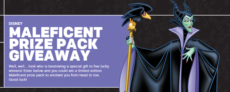 maleficent giveaway image