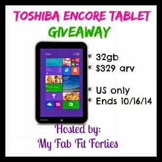 Toshiba Encore Tablet Giveaway – Open to US Only! Ends 10/16!