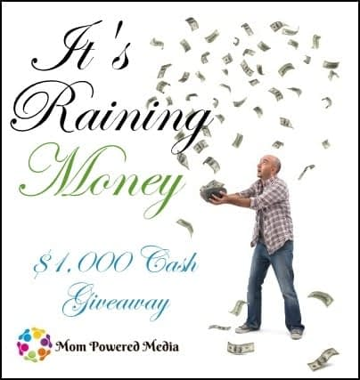 Free Blogger Opportunities: It's Raining Money Cash Giveaway
